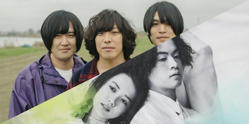KANA-BOON members, outdoors/Ryokuoushoku Shakai members, grayscale
