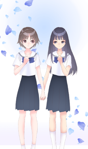Blue Reflection Ray poster